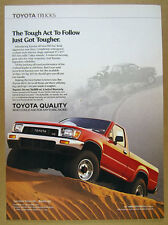 1989 Toyota 4x4 V6 Pickup red truck color photo vintage print Ad