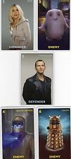 Doctor Who the Card Game 2012 c7e - 5 Art Cards; 9th Doctor, Vashta Nerada, Rose