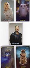 Doctor Who the Card Game 2012 c7e - 5 Art Cards; 9th Doctor, Vashta Nerada, Rose