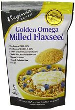 Virginia Harvest Golden Omega Milled Flaxseed 450g (Pack of 2)