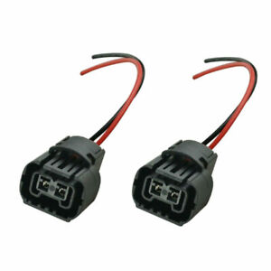 2x Wire Pigtail Female PS24W 5202 H16 Two Harness Fog Light Bulb Connector Plug