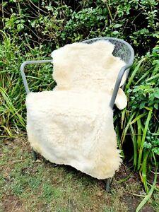 XXL British Cream Sheepskin Rug - 105cm by 65cm A++ (2917)