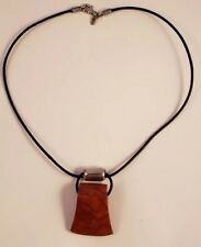 Sterling Silver SILPADA Red Sponge Coral On Black Leather Necklace