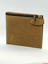 Men's Luxurious 100% Genuine Bifold Leather Wallet with Zip Cash Coin Pocket