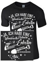 Opa Enkelin Schaufel Waffe Revolver Großvater Enkel Geschenk Kind Funshirt Shirt