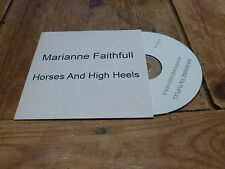 MARIANNE FAITHFULL - HORSES AND HIGH HEELS !!!!!!FRENCH CD PROMO!!!!!!!!!