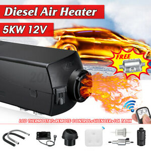 12V 8KW Diesel Air Heater 10L Tank LCD Thermostat For Truck Boat Car Bu