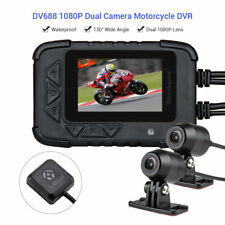 Blueskysea DV688 HD 1080p 2.35 in. LCD  Dual Lens Motorcycle Dash Cam with GPS