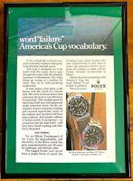 ♛ ROLEX Submariner 16610 / GMT  Original Advert Advertising Memorabilia Framed ♛