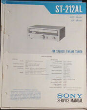 Sony ST-212AL tuner service repair workshop manual (original copy)