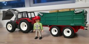 Playmobil Tractor and Trailer Set