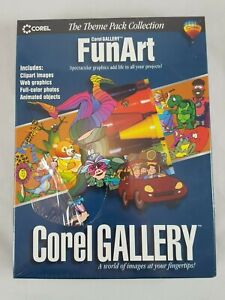 Corel Gallery FunArt Theme Pack Collection PC  web clip art images graphics NEW