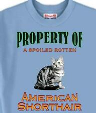 Cat T Shirt - Spoiled Rotten American Shorthair Cat - Dog T Shirt Available