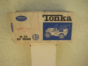 1964 Tonka toy Jeep wrecker # 375 box only SUPER CLEAN !