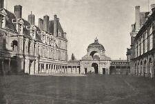 SEINE- ET- MARNE. Fontainebleau. Porte Dauphine Cour Henri IV 1895 old print