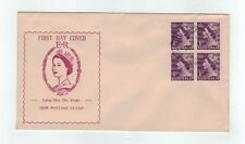 1953 QEII 1d Block Of 4     Haslem   Long May She Reigh   FDC