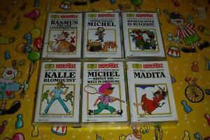 Astrid Lindgren Kassetten 6 MC - Michel Kalle Rasmus Bullerbü Madita #LB 217