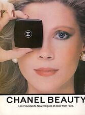 1980 Chanel Beauty Cosmetics Makeup Print Advertisement Ad Vintage VTG 80s