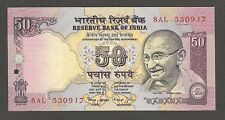 India 50 Rupees N.D. (1999); UNC; P-90c; L-B274; Gandhi; Parliament house