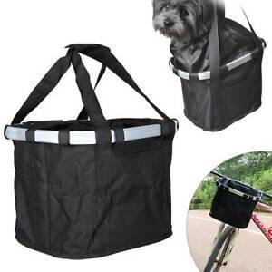 Foldable Bicycle Bike Basket Oxford Storage Shopping Picnic Pet Bag with Handle
