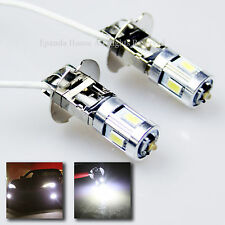 DUAL CHIPS 5630+CREE! BRIGHT 7000K WHITE 7W H3 5-SMD LED FOG/DRIVING LIGHT BULBS