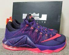 Nike Lebron XII 12 Low Court Purple Bright Crimson 724557-565 Size 11 New in Box