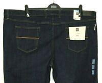 M&S Mens Jeans Dark Blue Stretch Staynew Regular Fit W50/L33 BNWT Marks