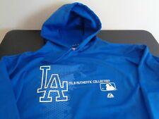 LOS ANGELES DODGERS Baseball MAJESTIC Therma Base XL Hoodie Sweatshirt MLB Blue