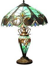 Doble Lámpara Tiffany luz eléctrica diseño azul turquesa Decoración Hogar Iluminación