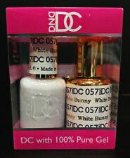 DND DC Soak Off Gel Polish White Bunny 057 LED/UV 6oz 18ml Gel Duo Set NEW