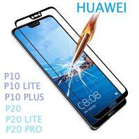 Film de protection intégrale verre trempé noir Huawei P10 P20 P20 Lite P20 Pro
