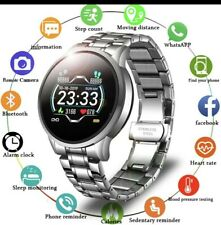 LIGE Mens Waterproof Smart Watch Bluetooth Smartwatch Silver IOS & Android