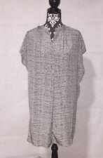 VINCE. NWT Silk Static Print Tunic Dress Green/White, Size S, Org$ 425.00