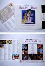 BEAUTY and the BEAST -Walt Disney KOREA LP W/insert. Celine Dion Alan Menken