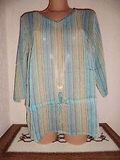 Gestreifte Lockre Sitzende Damenblusen,-Tops & -Shirts im Tuniken-Stil für Freizeit
