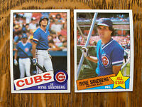 1985 CHICAGO CUBS Topps COMPLETE MLB Team Set 33 Cards SANDBERG ECKERSLEY SMITH