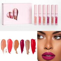 6Pcs Long Lasting Makeup Liquid Matte Women's Lip Gloss Waterproof Lipstick Kit