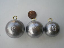 12 PCS. CANNON BALL SINKERS 10, 8, 6, OZ. 4 EACH. GOOD QUALITY FROM DO-IT MOLD