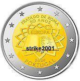 2 EURO COMMEMORATIVO PORTOGALLO 2007 Trattato di Roma