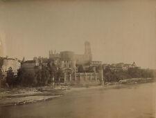 Albi vue générale avec la cathédrale Tirage albuminé Vintage albumen ca 1890