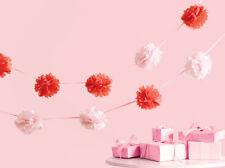 **MARTHA STEWART**  Vintage Girl Pink Pom Pom Garland - 6FT!