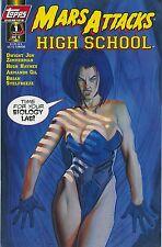 MARS ATTACKS High School (1996) Tim Burton TOPPS Comic Book #1 Rare MINT!