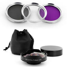 Baby Death 37mm 0.3x Extreme Wide Fisheye Lens + Filter Kit for Skateboarding
