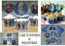 DISNEY congelato Elsa COPPA Torta casi DECORAZIONI PER TORTA DECORAZIONI FESTE PARTY BAGS x 24