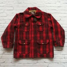 Vintage Woolrich Plaid Wool Hunting Jacket Mens Size 44 Coat