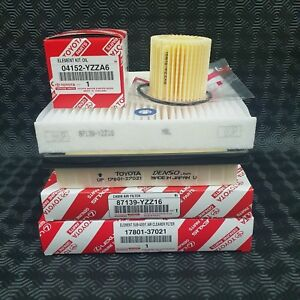 GENUINE TOYOTA PRIUS + PLUS FILTERS AIR FILTER OIL FILTER CABIN FILTER WASHER