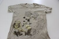 Know Mexico Vneck Studded Artwork Graphic TEE T SHIRT Large L