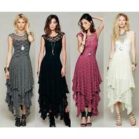 Sommer Kleid asymmetrisch Abendkleid Spitze Partykleid Ballkleid Tanz BC677