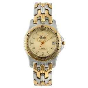 Swiss Edition 24k gold plated Stainless Steel Men's Two-Tone Watch