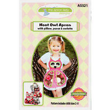 "THE APRON LADY ""HOOT OWL APRON WITH PILLOW, PURE & OWLETTE"" Sewing Pattern"